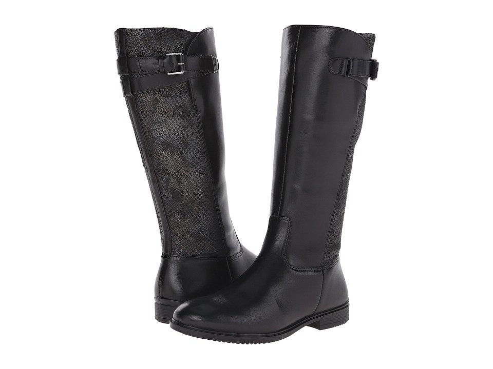 ECCO Touch 15 Tall Boot (Black/Black) Women