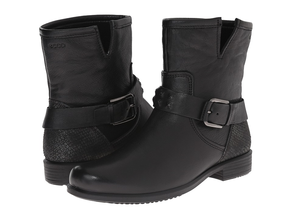 ECCO - Touch 25 Buckle Boot (Black/Black) Women's Boots