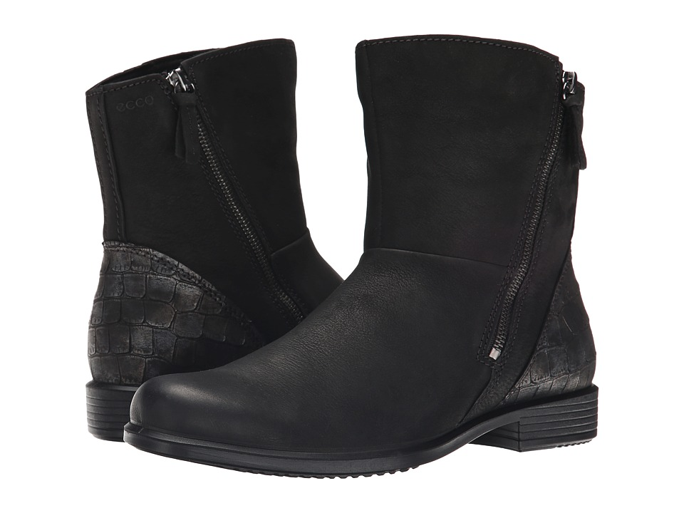 ECCO - Touch 25 Scale Boot (Black/Black) Women's Boots
