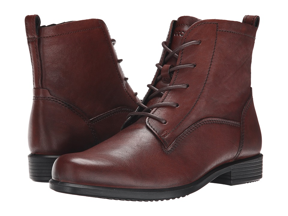 ECCO Touch 25 Lace Boot (Mahogany) Women