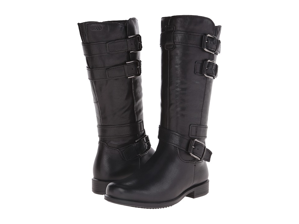 ECCO - Touch 25 Buckle High (Black) Women's Boots
