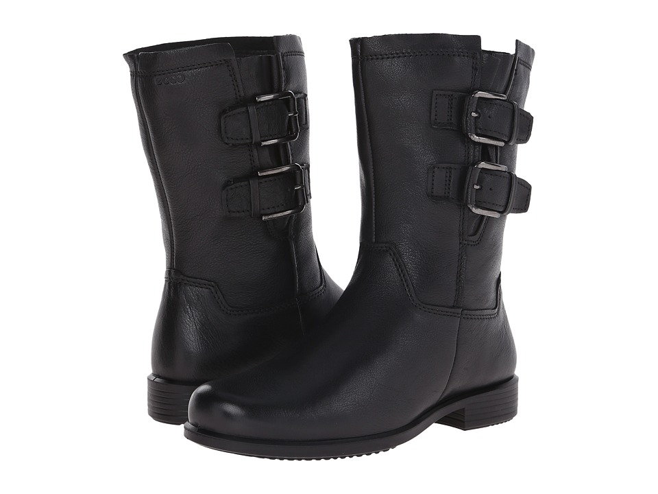 ECCO - Touch 25 Buckle Mid (Black) Women's Boots