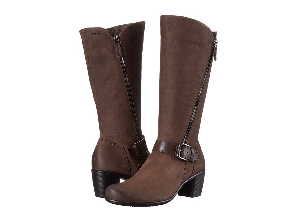 ECCO Touch 55 Tall Buckle Boot (Coffee/Coffee) Women
