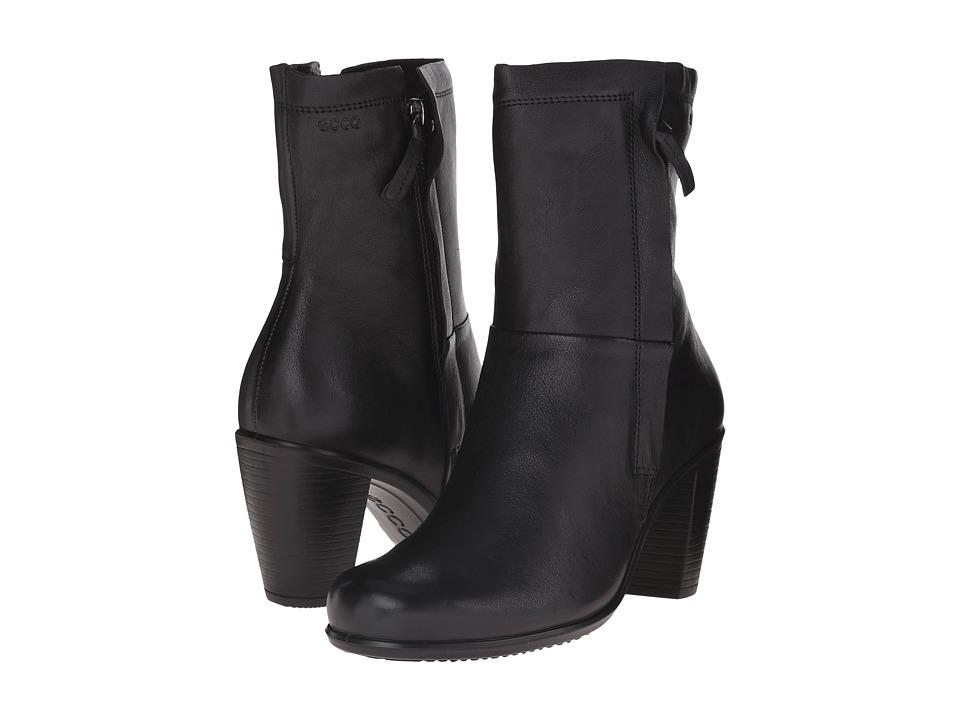 ECCO - Touch 75 Zip Boot (Black) Women's Dress Zip Boots