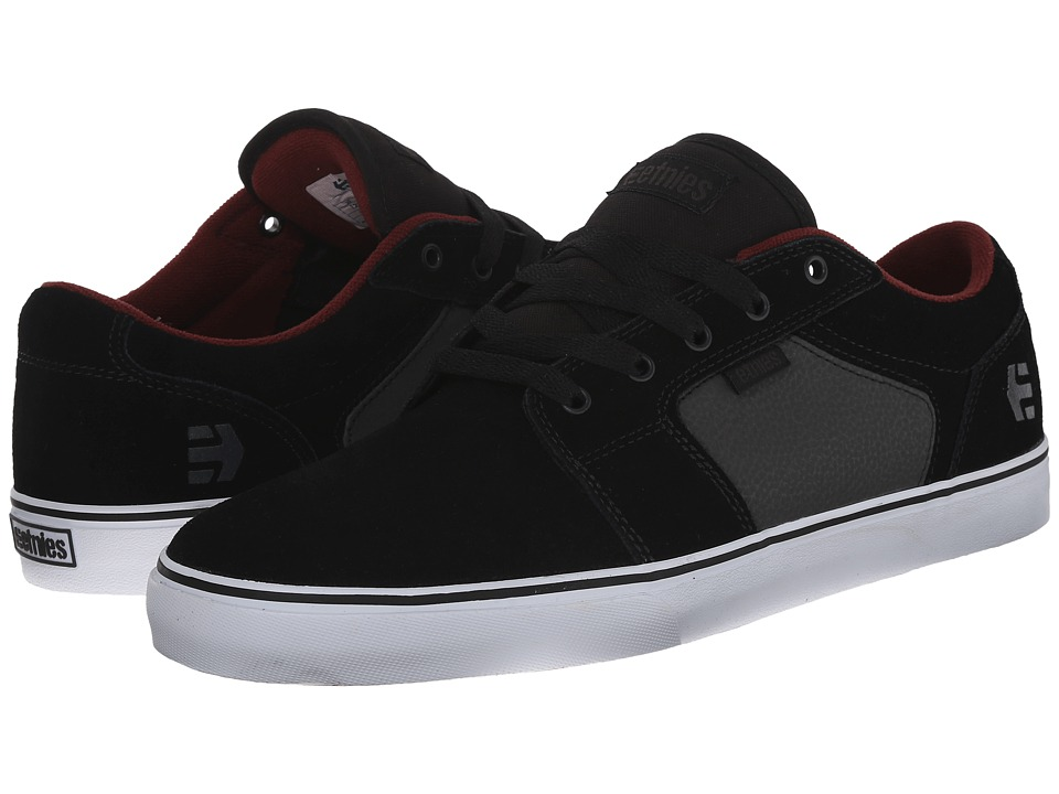 etnies - Barge LS (Black/Charcoal/Red) Men's Skate Shoes