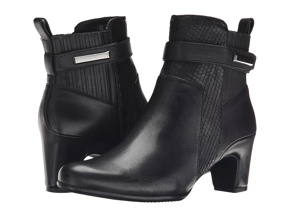 ECCO - Alliston Bootie (Black/Black) Women