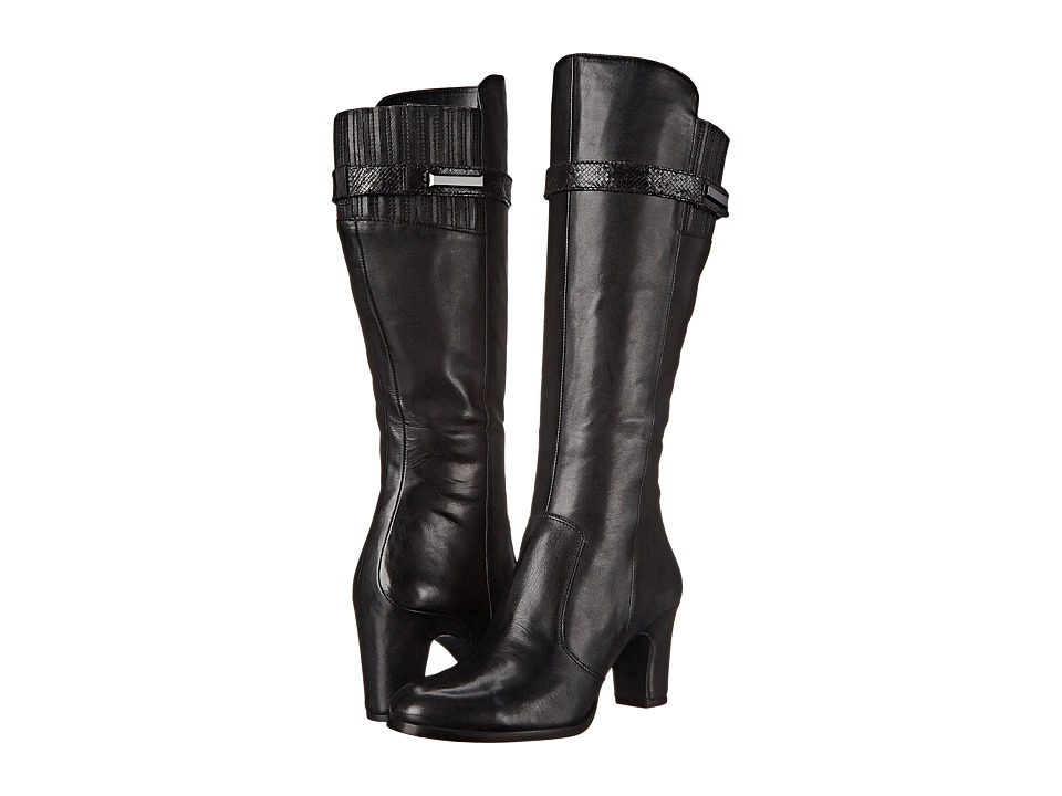 ECCO - Solbjerg Tall Boot (Black/Black) Women