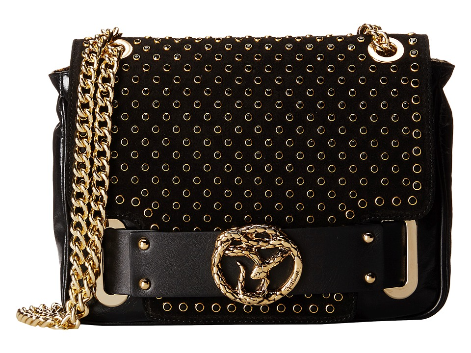 Just Cavalli - Crossbody Bag with Grommets (Black) Cross Body Handbags
