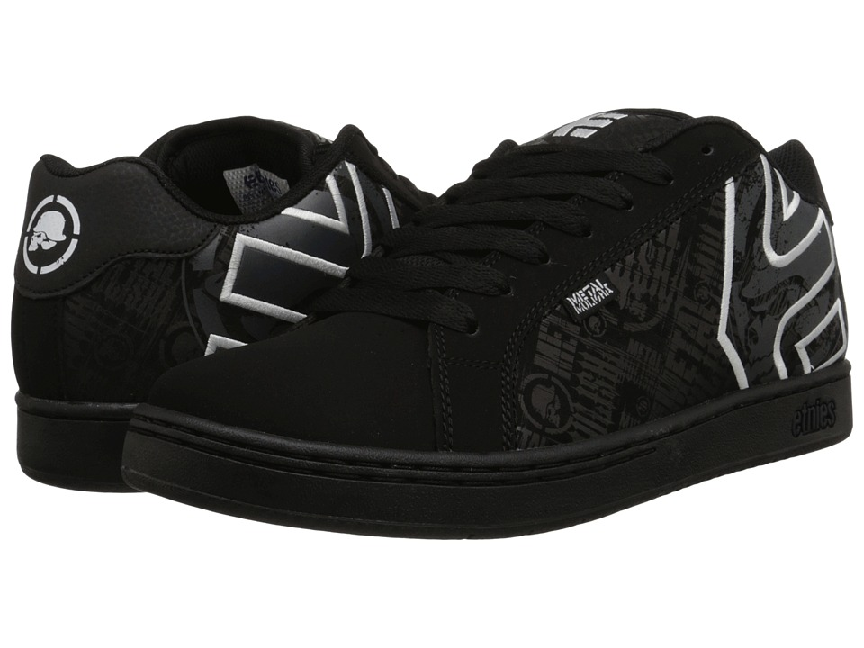 etnies - Fader x Metal Mulisha (Black/Black/White) Men's Skate Shoes