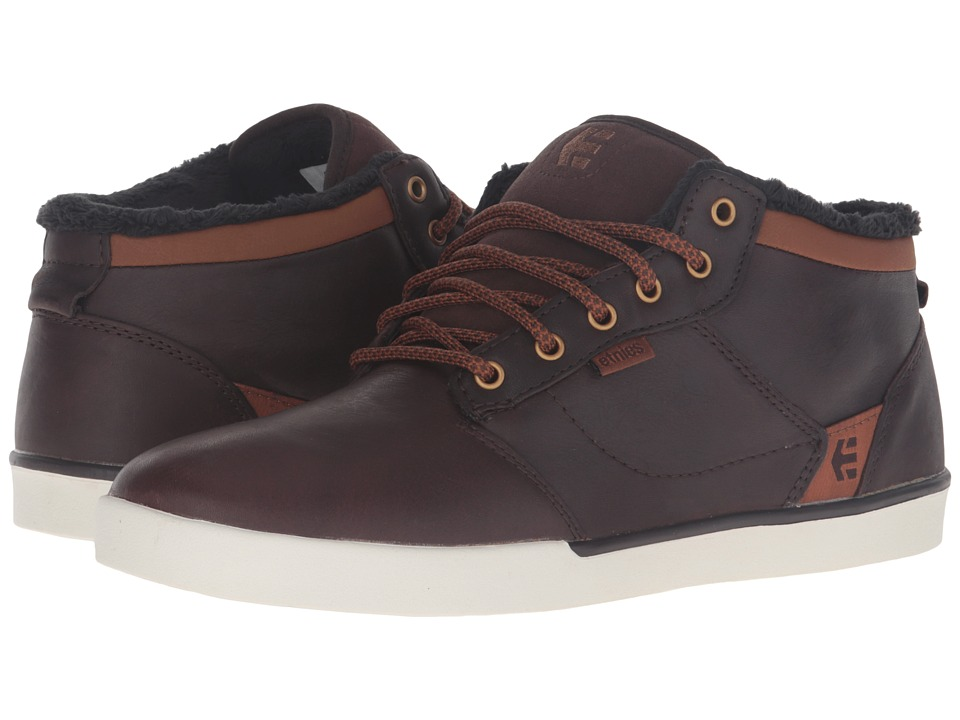 etnies - Jefferson Mid (Brown/White) Men's Skate Shoes