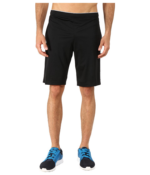 Reebok - Workout Ready Poly Train Shorts (Black/Medium Grey Heather) Men