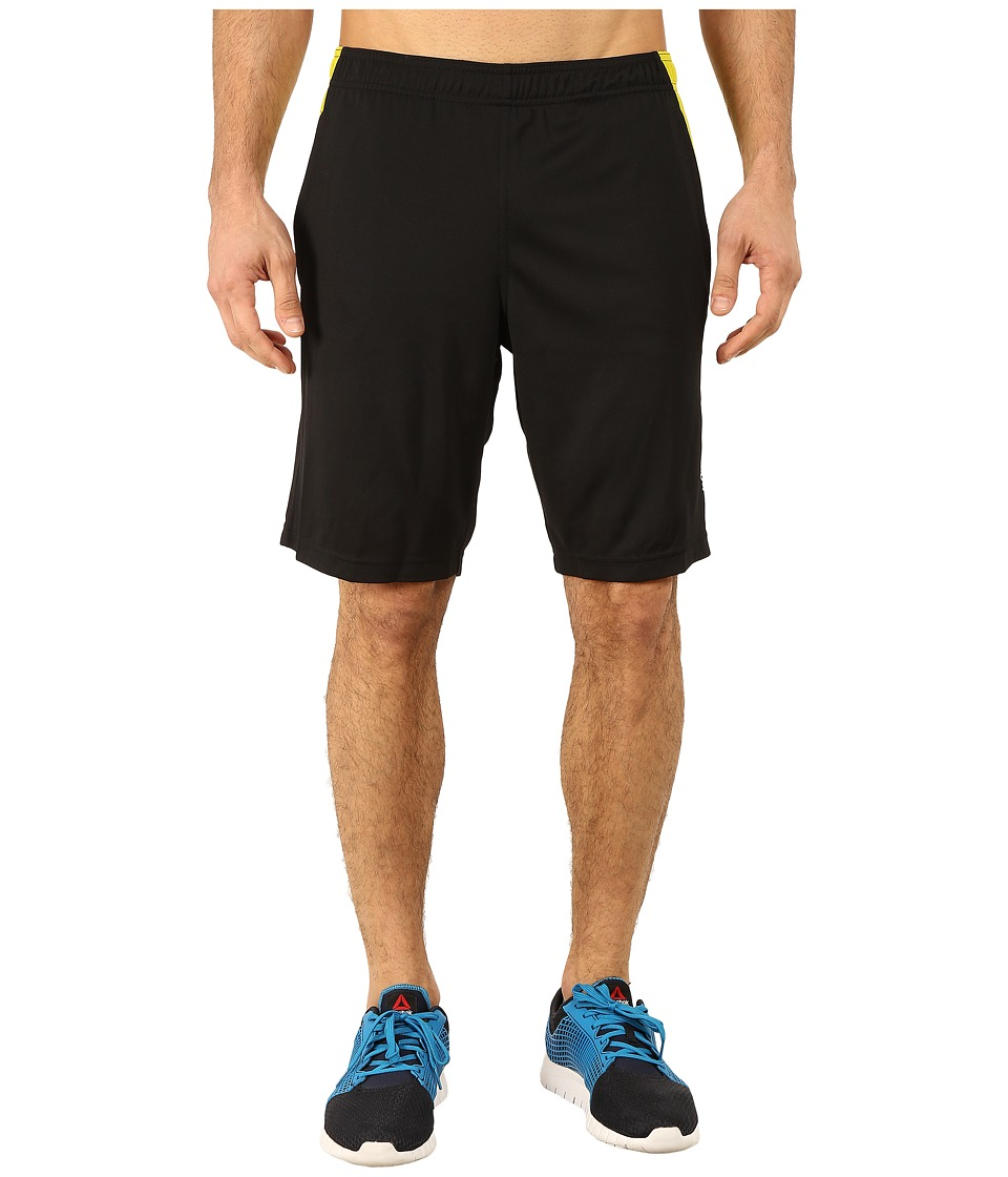 Reebok - Double Knit Shorts (Black/Vital Green) Men's Shorts