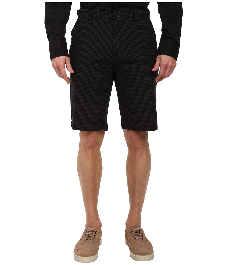 Calvin Klein - Yarn Dye Micro Check Shorts (Black) Men's Shorts