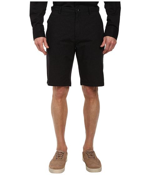 Calvin Klein - Yarn Dye Micro Check Shorts (Black) Men