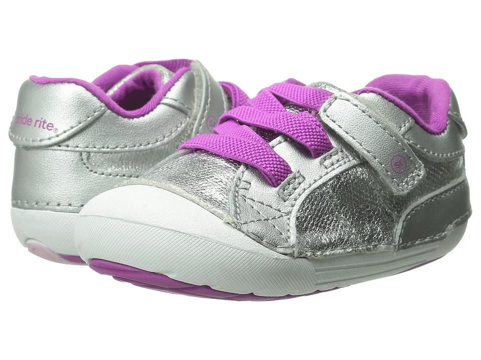 Stride Rite - SRT SM Skyler (Infant/Toddler) (Silver) Girls Shoes