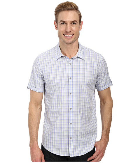 Calvin Klein - Yarn Dye Dobby Multi Check (Battleship) Men's Clothing