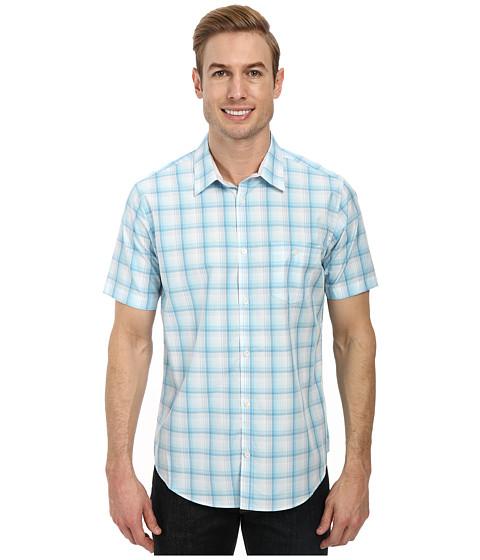 Calvin Klein - Yarn Dye Medium Plaid Check (Light Teal) Men's Clothing