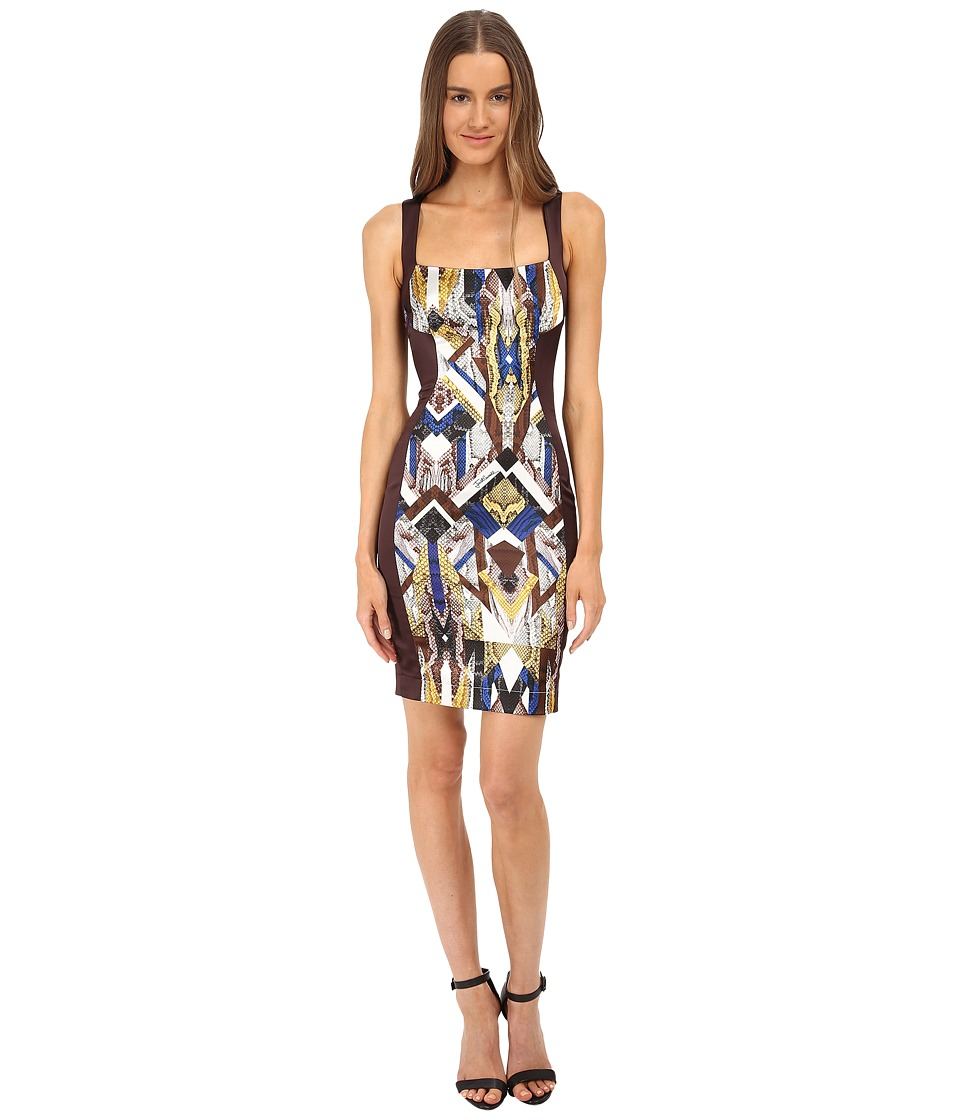 Just Cavalli - Sleeveless Dress Print Front Panel (Oak) Women's Dress