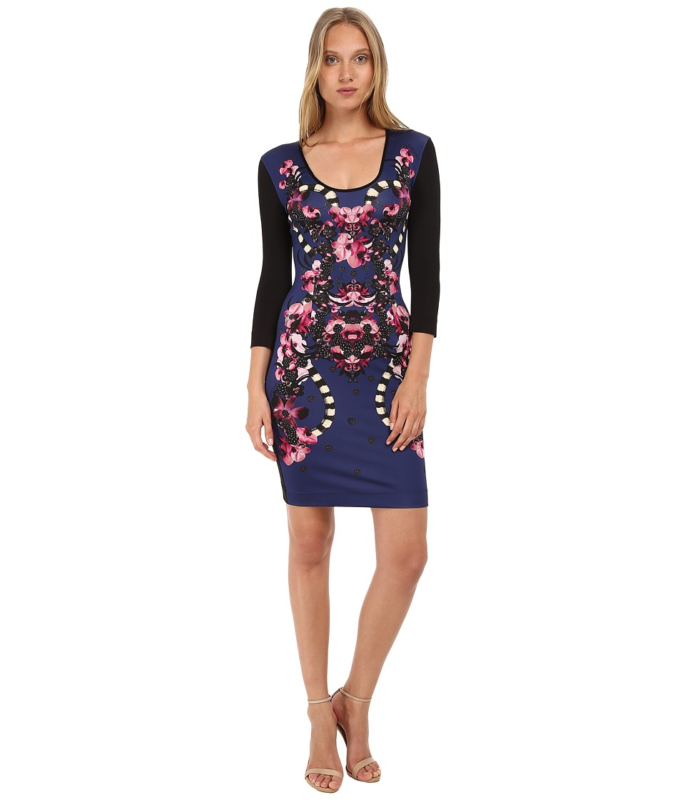 Just Cavalli - 3/4 Sleeve Jersey Dress (Black) Women