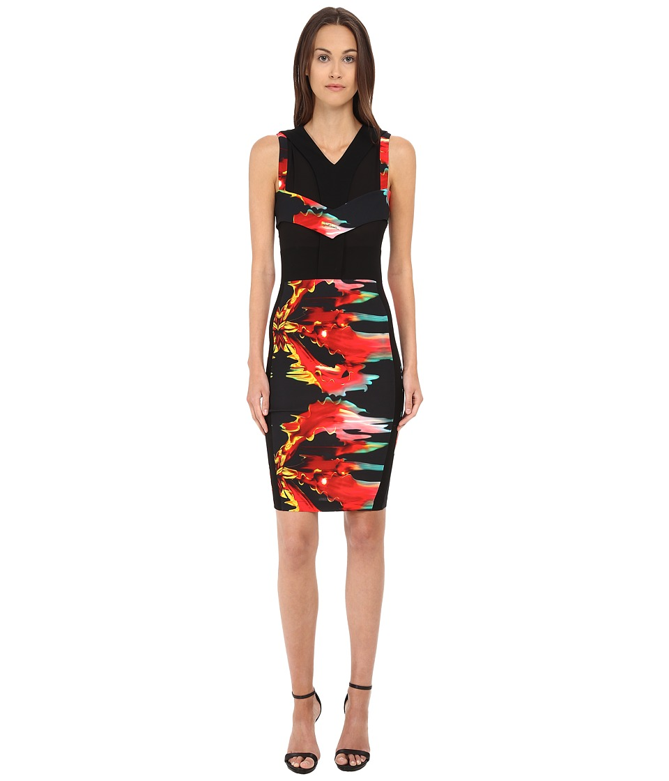 Just Cavalli Sleeveless Knee Length Cocktail Dress (Black Variant) Women