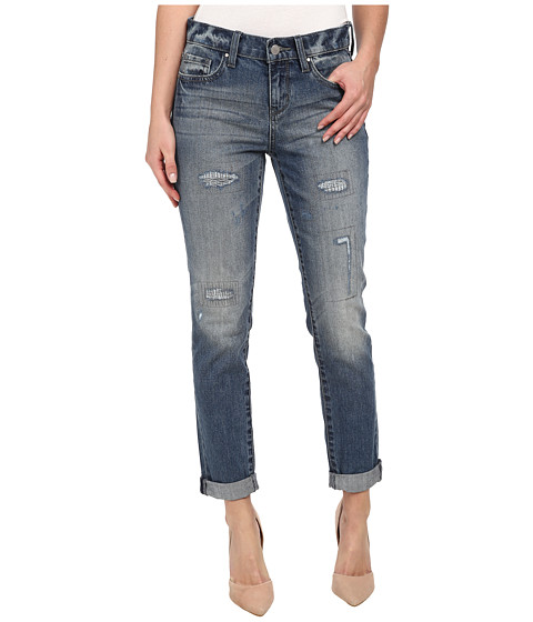 DKNY Jeans - Rip and Repair Bleecker Boyfriend in Lake Wash (Lake Wash) Women