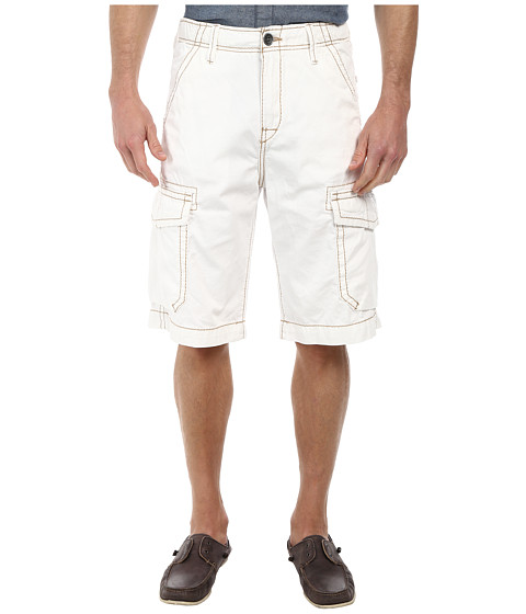 True Religion - Issac Cargo Trooper Shorts (White) Men