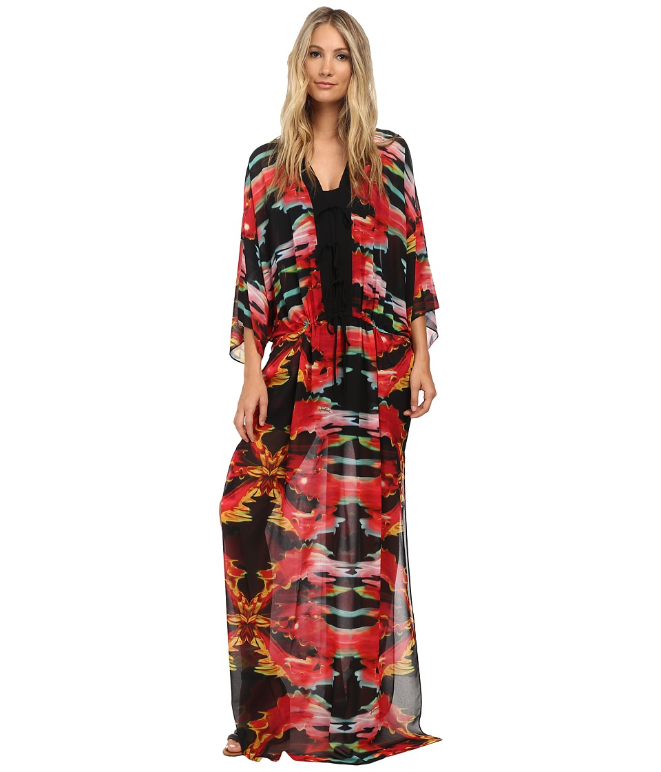 Just Cavalli - Print Caftan (Black Variant) Women's Clothing
