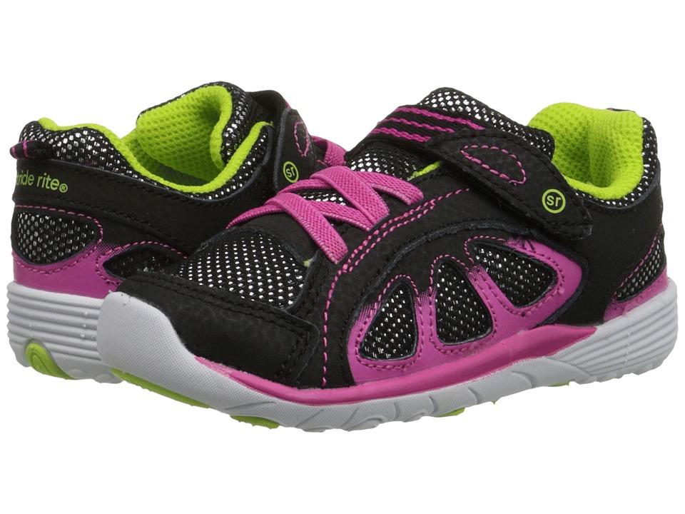 Stride Rite - SRT Vista (Toddler) (Black/Pink) Girls Shoes