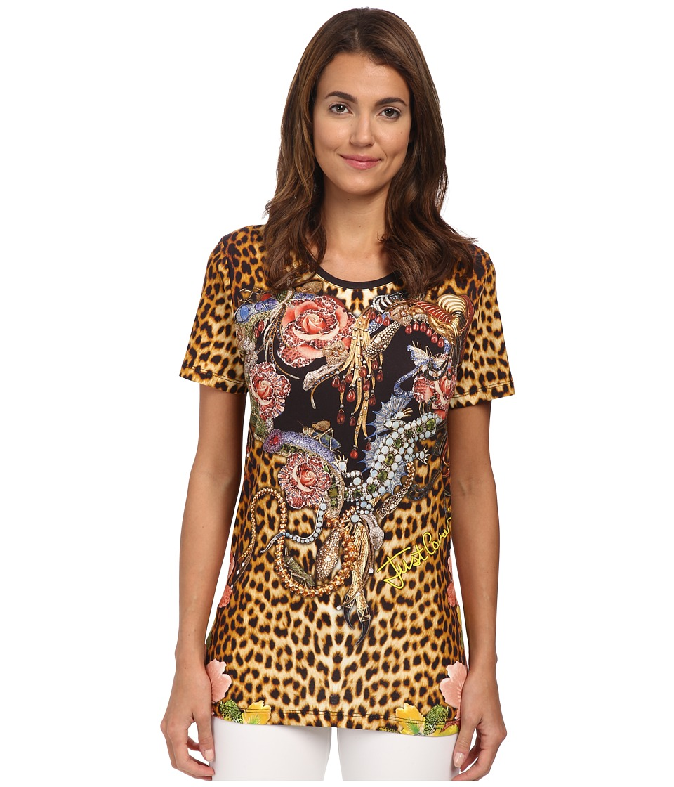 Just Cavalli - Printed T-Shirt (Yellow) Women's T Shirt