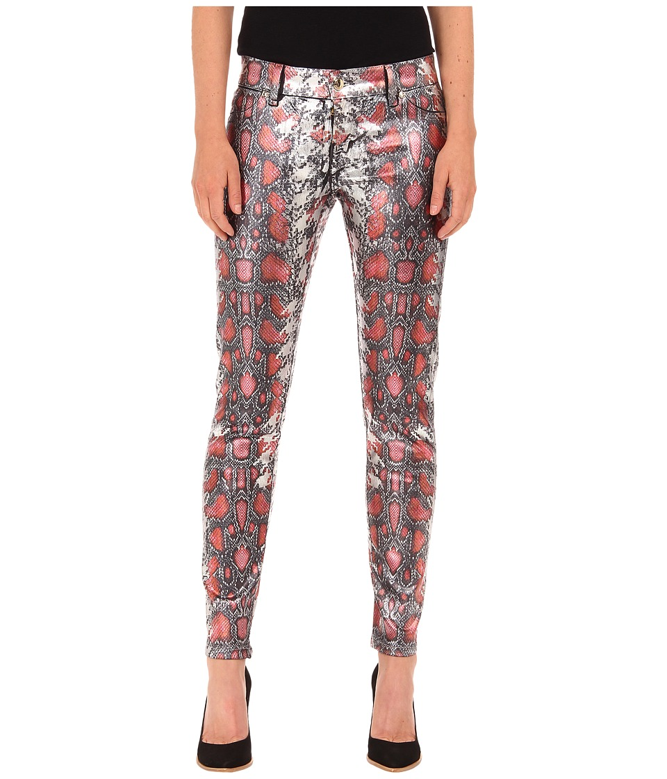 Just Cavalli - Shiny Snake Print Skinny Denim (Black Variant) Women's Jeans