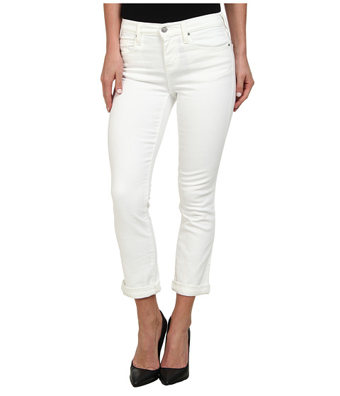 DKNY Jeans - Soho Skinny Rolled Crop in White (White) Women's Jeans