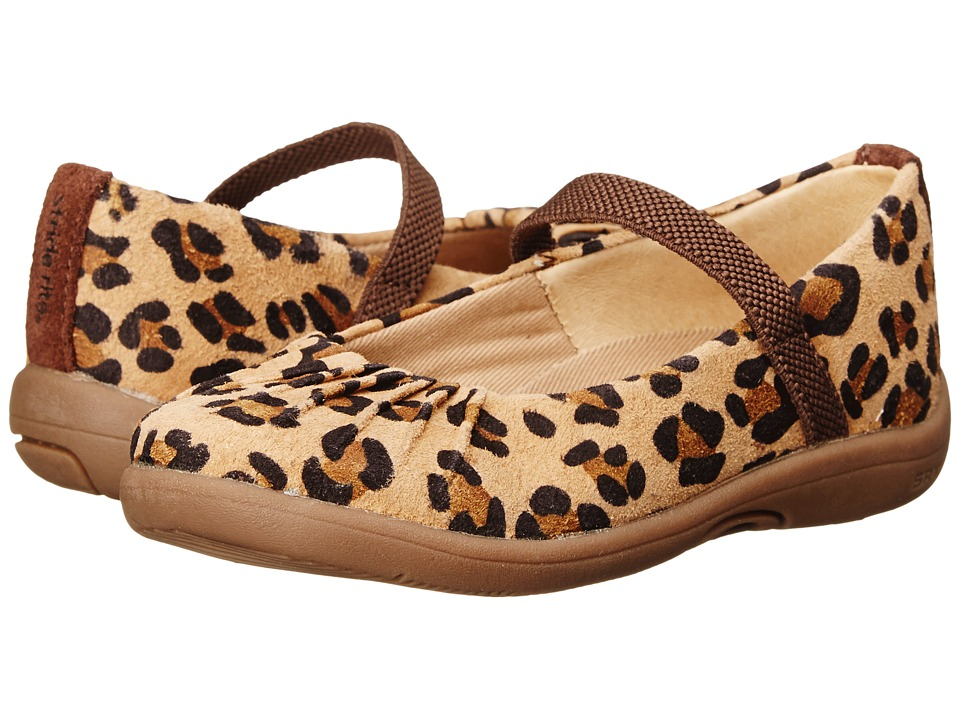 Stride Rite - SRT PS Cassie (Toddler/Little Kid) (Brown/Animal) Girls Shoes