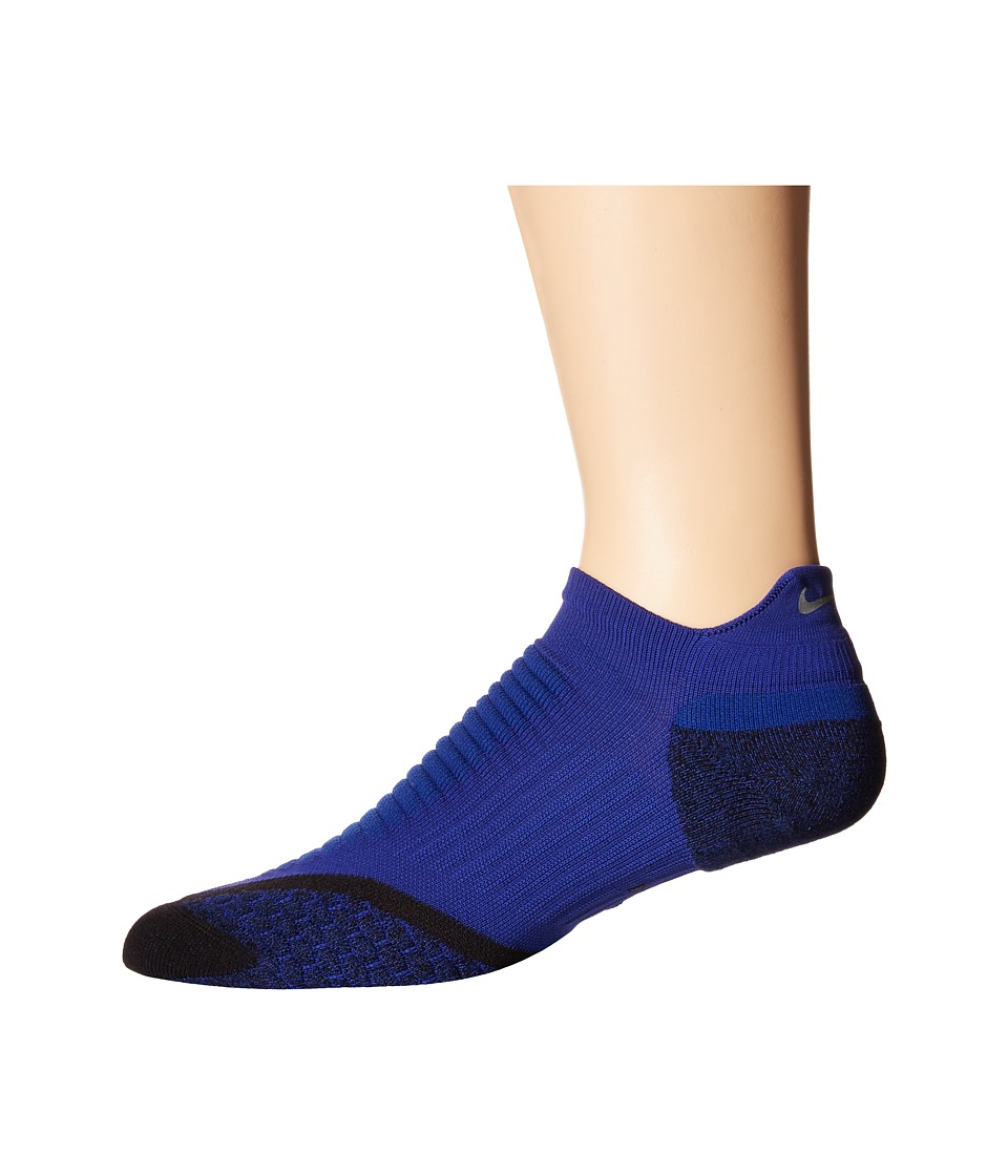Nike - Elite Running Cushion No Show Tab 1-Pair Pack (Deep Royal Blue/Black/Black) No Show Socks Shoes