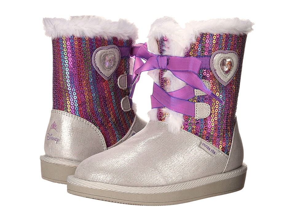 Stride Rite - Disney Frozen Cozy Boot (Toddler) (Silver) Girls Shoes