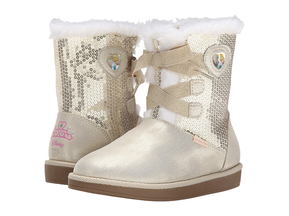 Stride Rite - Disney Cinderella Cozy Boot (Toddler/Little Kid) (Gold) Girls Shoes