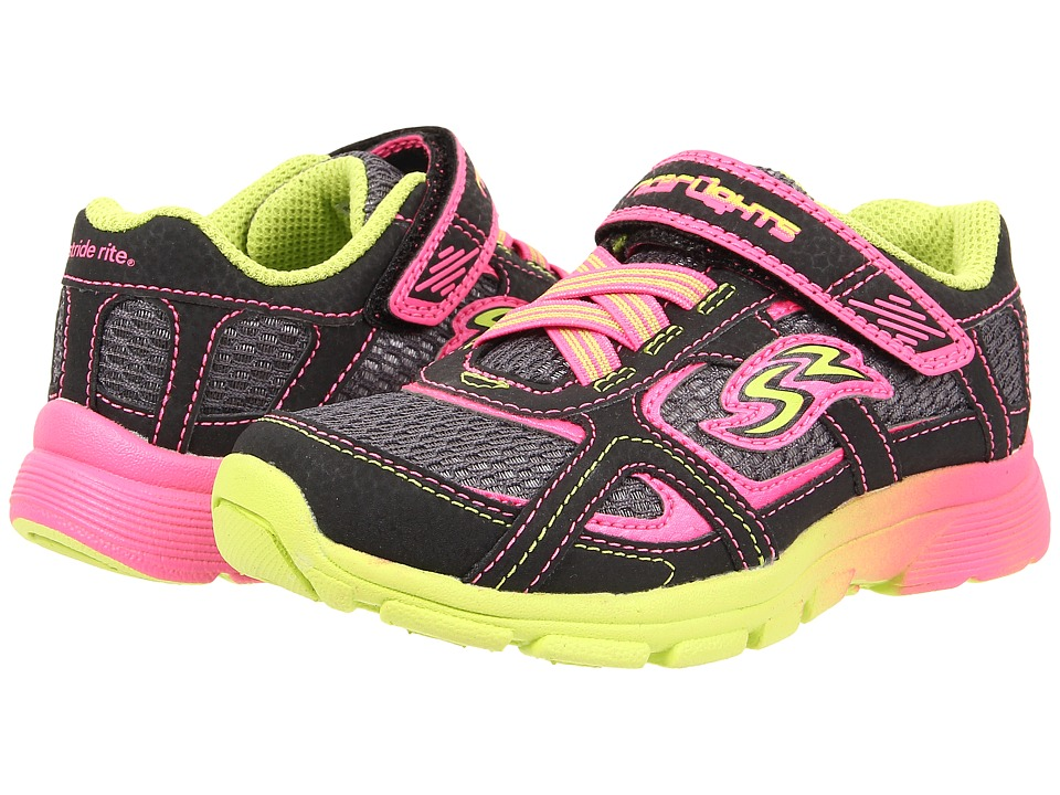 Stride Rite - Racer Lights Supersonic (Toddler/Little Kid) (Black/Grey/Multi) Girls Shoes