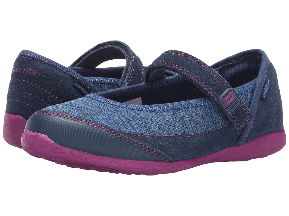 Stride Rite - M2P Terry (Little Kid) (Navy) Girl's Shoes