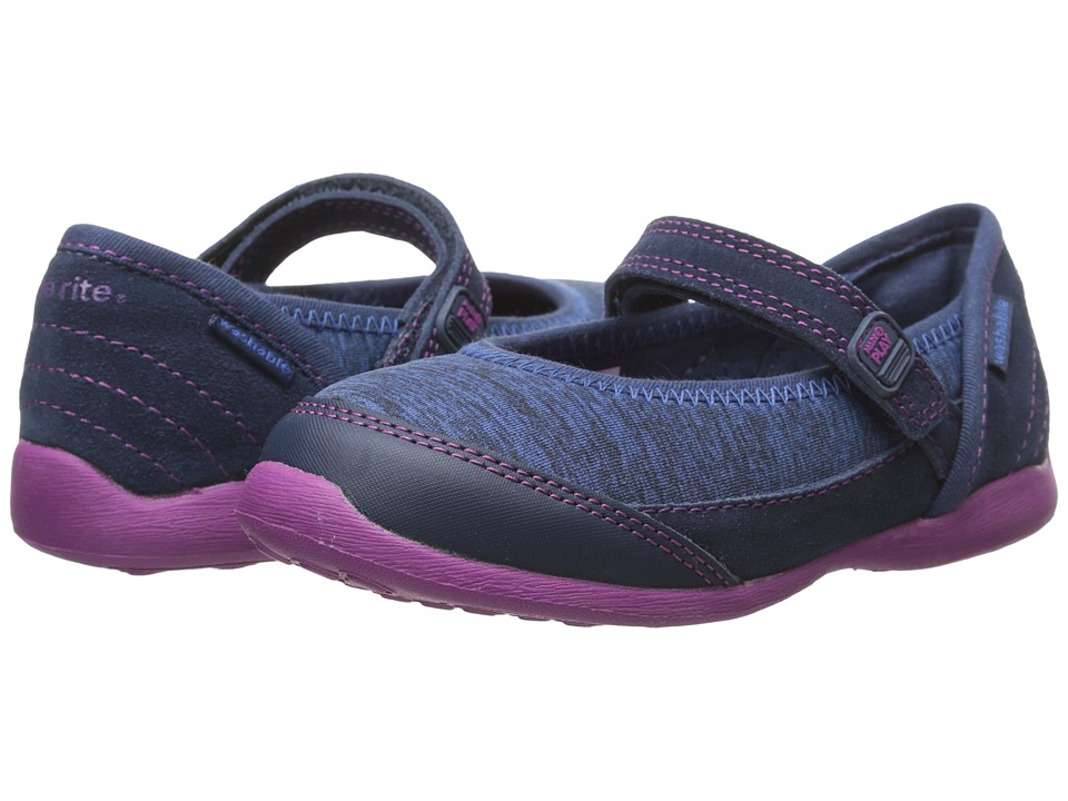 Stride Rite - M2P Terry (Toddler/Little Kid) (Navy) Girl's Shoes
