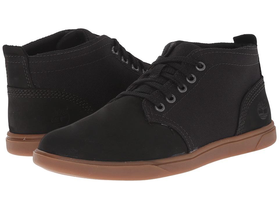 Timberland Kids - Groveton Chukka Leather and Fabric (Little Kid) (Black) Boys Shoes