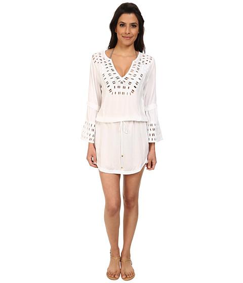 Vix - Solid Daisy Caftan (White) Women