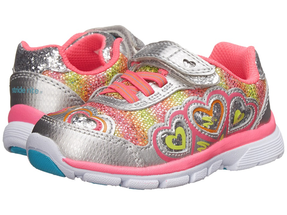 Stride Rite - Joy (Toddler) (Silver/Pink) Girls Shoes