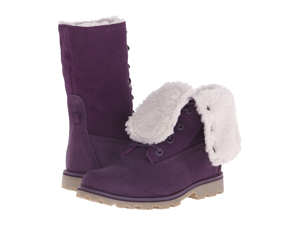 Timberland Kids - Authentics 6 Waterproof Faux Shearling (Little Kid) (Purple Monochromatic) Girls Shoes