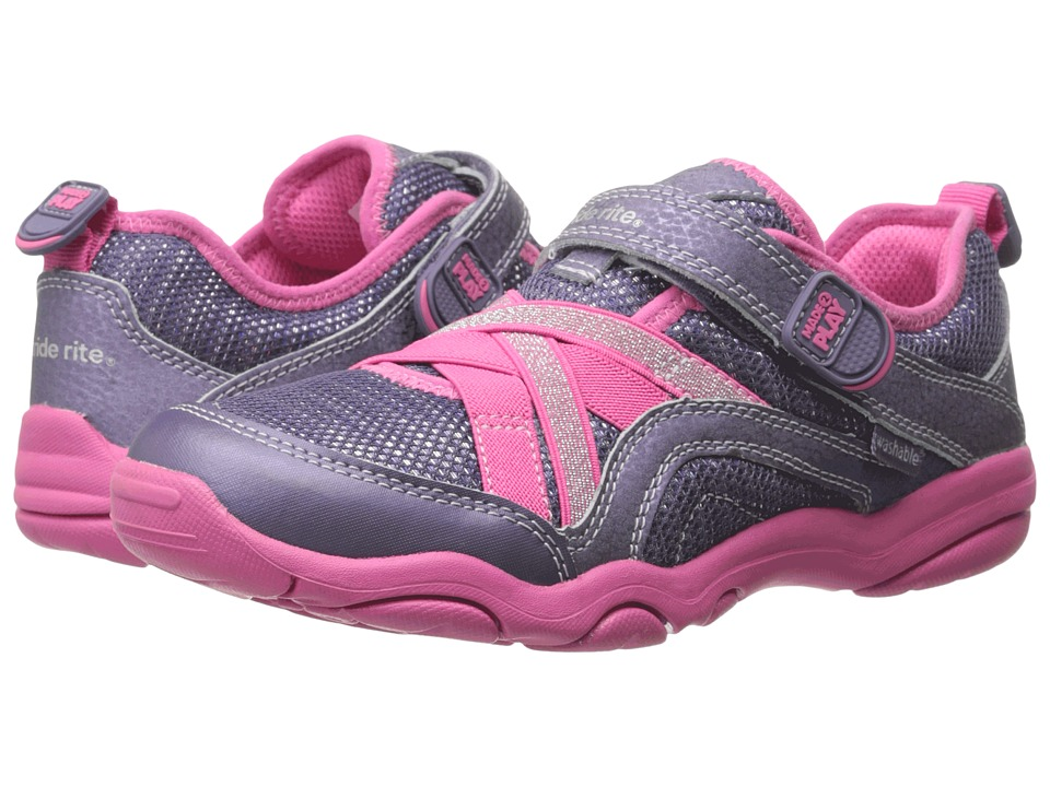 Stride Rite - Made 2 Play Serena (Little Kid) (Grey/Pink) Girls Shoes