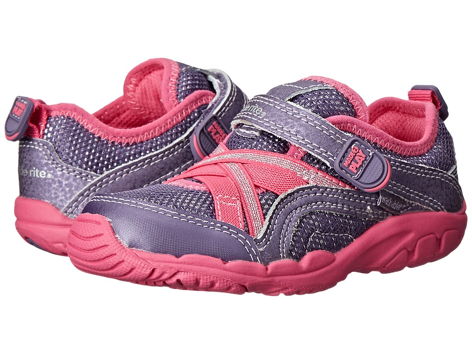 Stride Rite - Made 2 Play Baby Serena (Toddler) (Grey/Pink) Girls Shoes