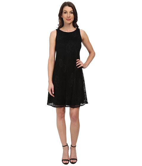 London Times - A-Line Shift Dress (Black) Women