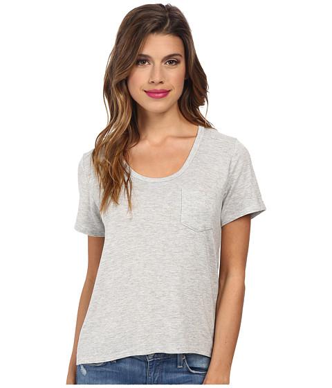 MINKPINK - Modal UV Pocket Tee (Grey Marle) Women's Short Sleeve Pullover