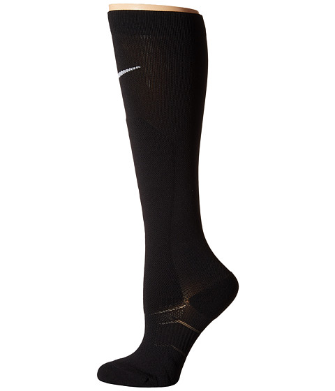 Nike - Elite High Intensity (Black/Black/White) Women's Crew Cut Socks Shoes