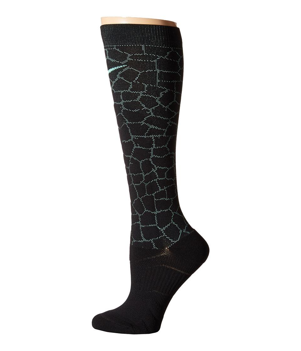 Nike - Elite High Intensity (Black/Green Glow/Green Glow) Women's Crew Cut Socks Shoes