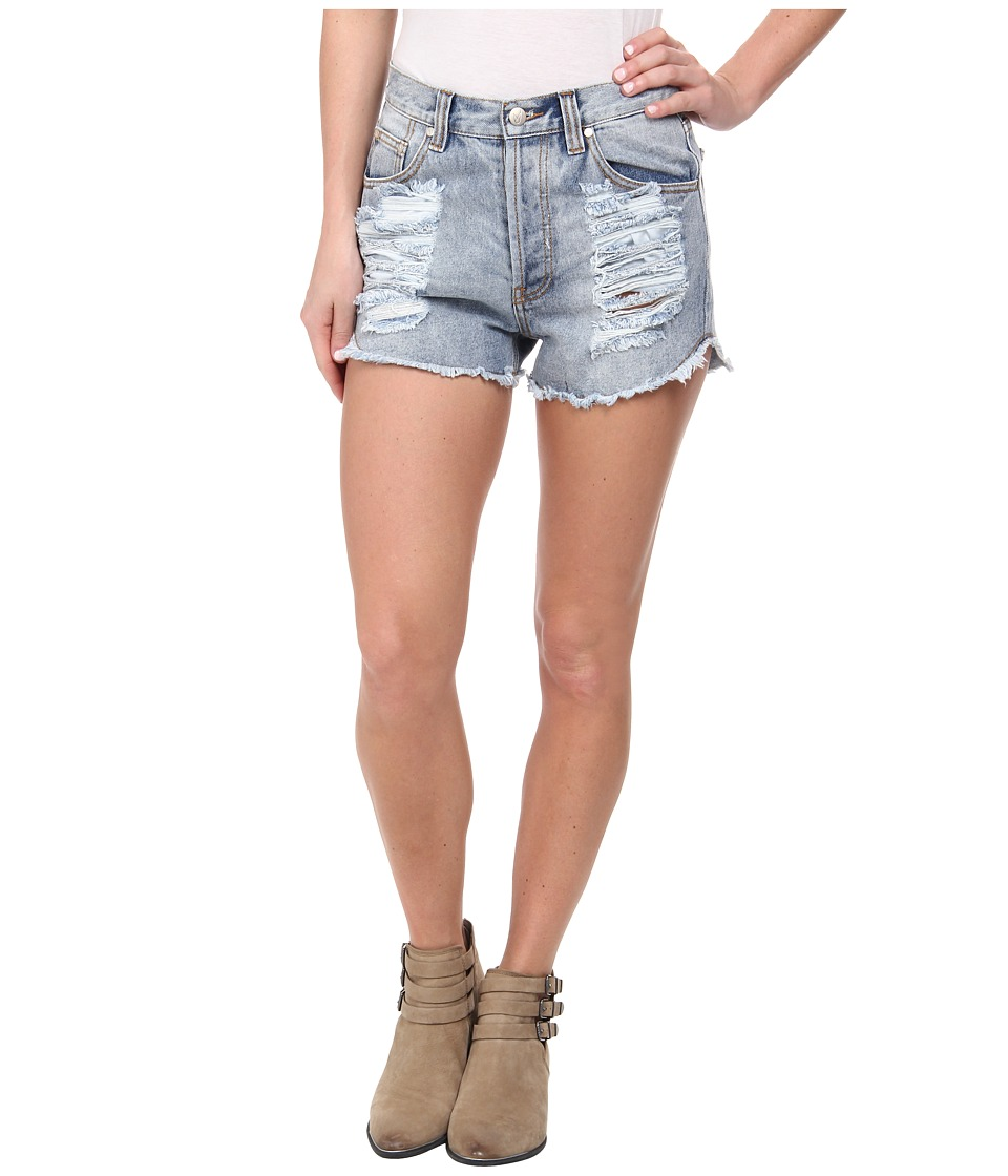 MINKPINK - Slasher Flick Shorts (Denim) Women's Shorts