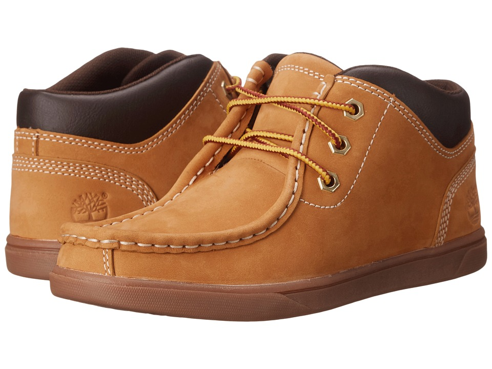 Timberland Kids - Groveton Leather Moc Toe Chukka (Big Kid) (Wheat) Boys Shoes